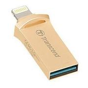 Transcend® JetDrive™ Go 500 32GB USB 3.1 Flash Drive, Gold (TS32GJDG500G)