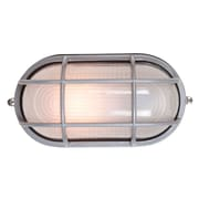 Access Lighting Nauticus 1 Light Outdoor Bulkhead Light; Satin