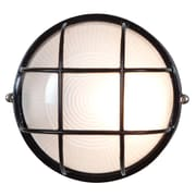 Access Lighting Nauticus 1 Light Outdoor Bulkhead Light; Black
