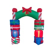 BZB Goods Christmas Inflatable Gift Boxes Arch w/ Bow Tie