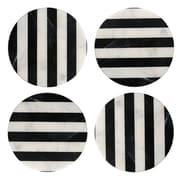 Thirstystone Old Hollywood Round Striped Marble Coaster (Set of 4)
