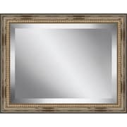 Ashton Wall D cor LLC Rectangle Distressed Antique Beaded Framed Beveled Plate Glass Mirror