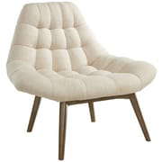 !nspire Oversize Waffle Tufted Fabric Accent Chair; Beige