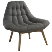 !nspire Oversize Waffle Tufted Fabric Accent Chair; Gray