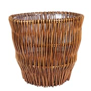 Household Essentials Wicker Trash Can