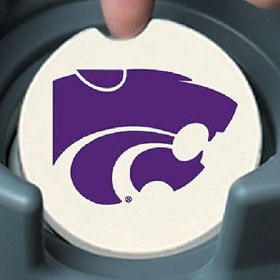 CounterArt NCAA Car Coaster (Set of 2); Kansas State Wildcats WYF078279303959