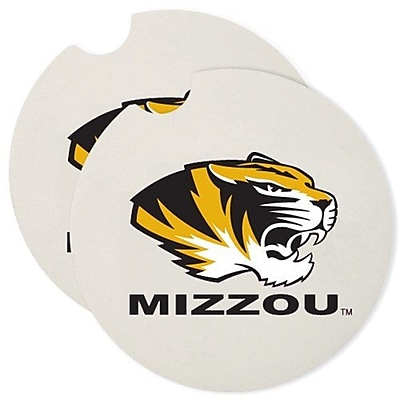 CounterArt NCAA Car Coaster (Set of 2); Missouri Tigers WYF078279303969