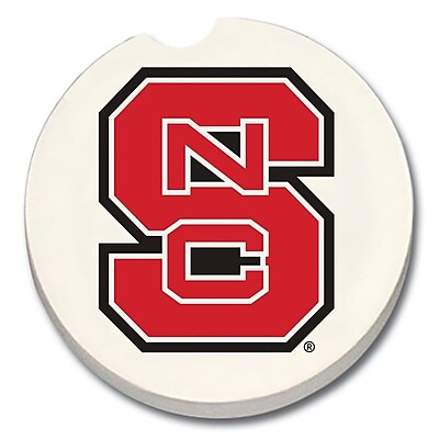 CounterArt NCAA Car Coaster (Set of 2); North Carolina State Wolfpack WYF078279303971