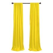 LA Linen Window Treatment Set; Light Yellow