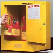 Justrite Sure-Grip  22''H x 17''W x 17''D EX Countertop Flammable Safety Cabinet; Self-Closing