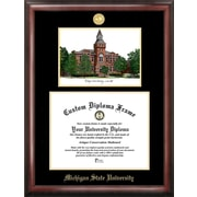 Campus Images NCAA Gold Embossed Diploma Frame w/ Campus Images Lithograph Frame