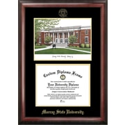 NCAA Murray State University Gold Embossed Diploma w/ Campus Images Lithograph Picture Frame