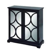 Cole & Grey 2 Door Cabinet; Black