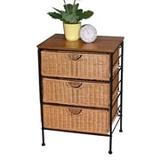 4D Concepts Wicker 3 Drawer Stand