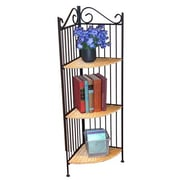 4D Concepts Wicker 43'' Corner Unit Bookcase