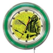 Holland Bar Stool Jimi Hendrix Microphone and Guitar Double Neon Ring Logo Wall Clock