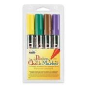 Uchida of America Bistro Chalk Marker,6mm Tip,Erasable,Water-based,4/PK,Ast.