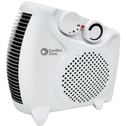 Comfort Zone 1,500 Watt Portable Electric Dual-Position Fan Heater