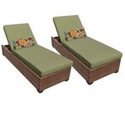 TK Classics Laguna Chaise Lounge (Set of 2); Cilantro