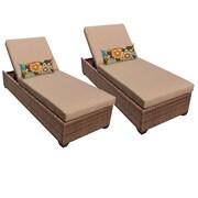 TK Classics Laguna Chaise Lounge (Set of 2); Wheat