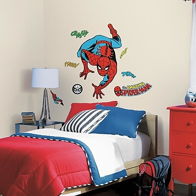 Room Mates Marvel Enterprises Classic Spider-Man Comic Peel and Stick Wall Decal WYF078278774305