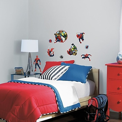 Room Mates Marvel Enterprises Spider-Man Ultimate and Team Hero Peel and Stick Wall Decal WYF078278774306