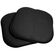 Sweet Home Collection Dining Chair Cushion (Set of 2); Black