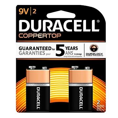 Duracell® - Piles alcalines de 9 V, paq./2