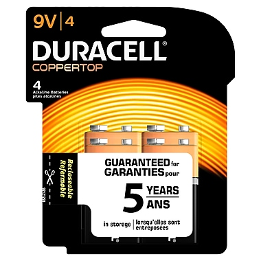 Duracell® - Piles alcalines de 9 V, paq./4