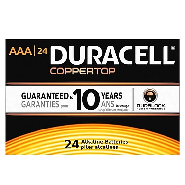 Duracell® – Piles AAA alcalines CopperTop, paq./24