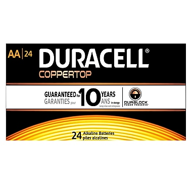 Duracell® – Piles AA alcalines CopperTop, bte/24