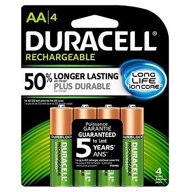 Duracell® – Piles AA rechargeables préchargées, paq./4