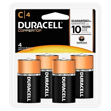 Duracell® - Piles alcalines C, paq./4