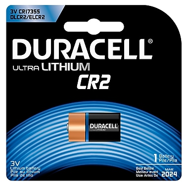 Duracell® CR2 3V Ultra Photo Lithium Battery, 2-Pack