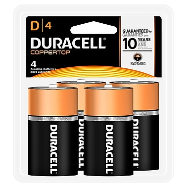 Duracell® D Alkaline Batteries, 4-Pack