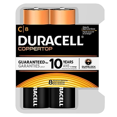Duracell® - Piles alcalines C, paq./8