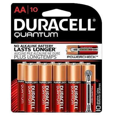 Duracell® – Piles alcalines AA Quantum, paq./10