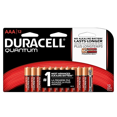 Duracell® – Piles alcalines AAA Quantum, paq./12