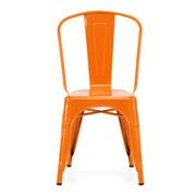 Design Lab MN Dreux Steel Side Chair (Set of 4) (Set of 4); Glossy Orange