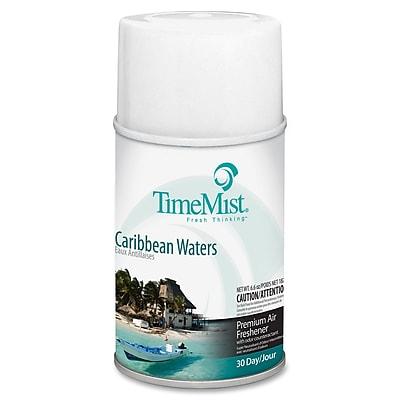 TimeMist Metered Aerosol Fragrance Dispenser Refills, 6.6 oz, Caribbean Waters, 12/Carton (1042756) TMS1042756