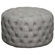 New Pacific Direct Lulu Round Tufted Ottoman; Fabric Shark