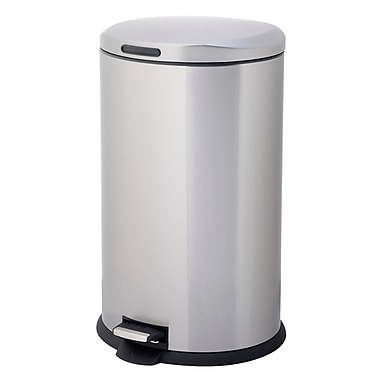 HomeZone 1057 Gallon Step On Stainless Steel Trash Can