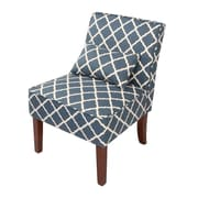 Innovex Novian Parsons Chair w/ Toss Pillow; Blue