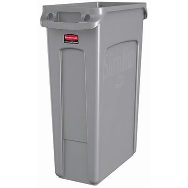 Rubbermaid® - Contenants SlimJim avec ventilation, gris