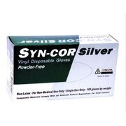 Syn-Cor Silver™ Industrial Grade Vinyl Powder-Free Disposable Gloves, Size: Extra Large, Case of 1,000 (4062XL)