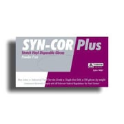 Syn-Cor Plus™ Powder-Free Stretch Vinyl Disposable Gloves, Color: White, Size: 2XL, Case of 1,000 (4067XXL)