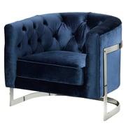 Uptown Club Stainless Steel Frame Tufted Barrel Chair