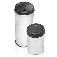 2-Pack Modernhome Stainless Steel Motion Activated Trashcan Set