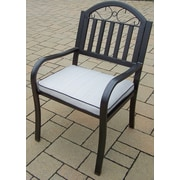 Oakland Living Rochester Dining Arm Chair w/ Cushion
