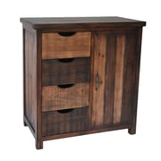 Cheungs Wooden 4 Drawer and Side Door Storage w/ 1 Shelf Chest